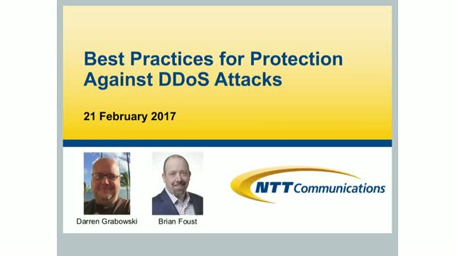 Best Practices for Protection Against DDoS Attacks