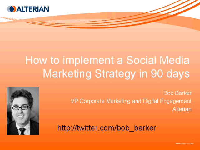 A Social Media Marketing Strategy in 90 Days