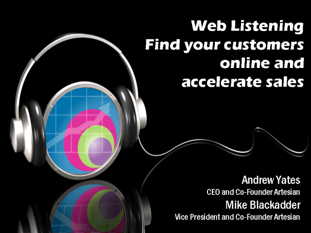 Web Listening: Finding & Connecting With Your Customers Online
