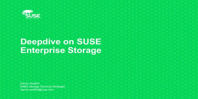 SUSE Enterprise Storage 4 – Grow your technical knowledge!