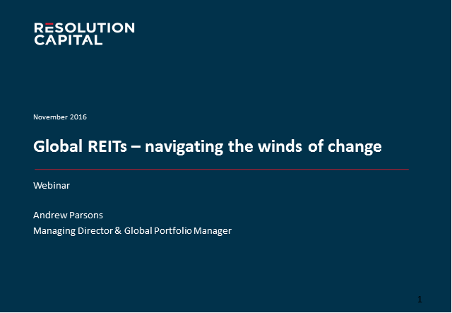 Global REITs - navigating the winds of change