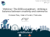 Webinar: The B2B conundrum - striking a balance between creativity and commerce