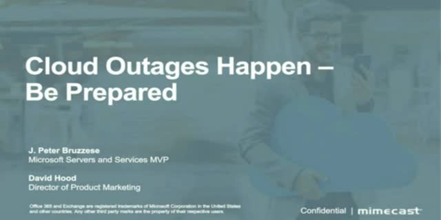 Prepare for Cloud Outages - Business Continuity and Data Loss Prevention
