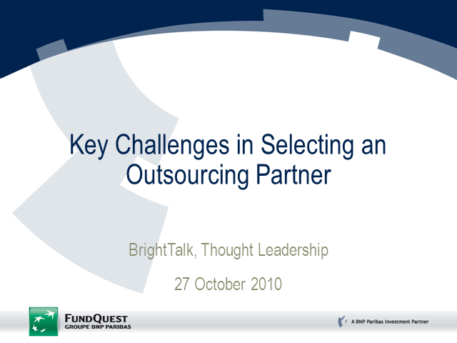 How to Select an Outsourcing Partner