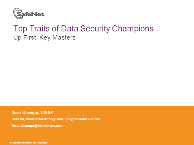 Top Traits of Data Security Champions, Part 2: Key Management