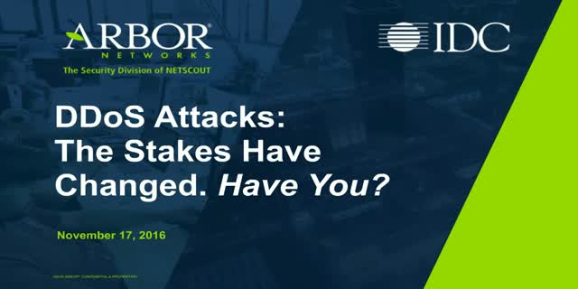 DDoS Attacks: The Stakes Have Changed, Have You?