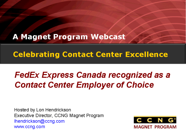 Celebrating Contact Center Excellence at FedEx Canada
