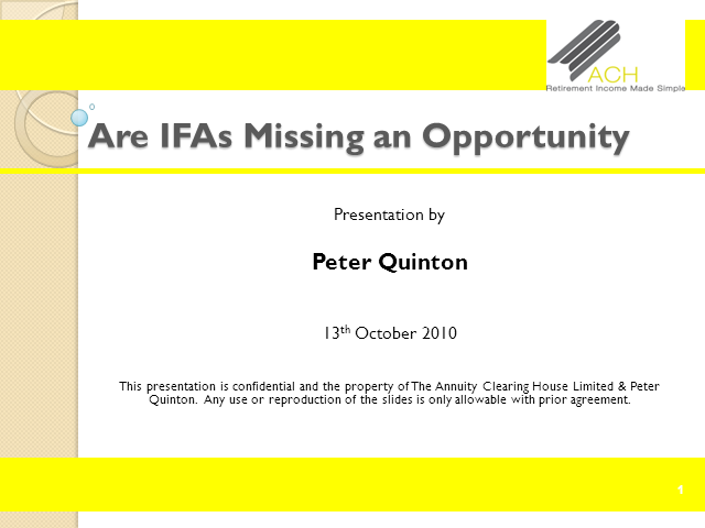 Are IFAs Missing an Opportunity?