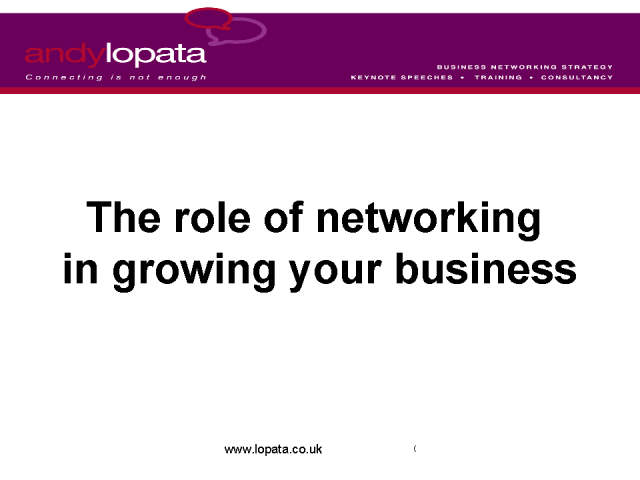 How to Grow Your Business Through Networking
