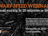 Warp-Speed Webinar: Lead scoring in 20 minutes or less