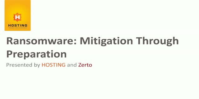 Ransomware: Mitigation Through Preparation