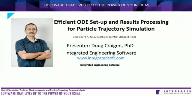 Efficient ODE Set-up and Results Processing for Particle Trajectory Simulation