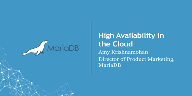 High Availability in a Cloud Environment