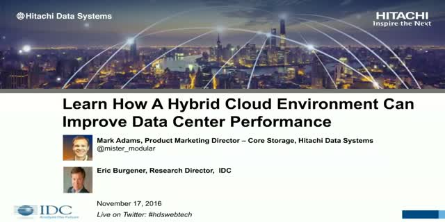 Learn How a Hybrid Cloud Environment Can Improve Data Center Performance