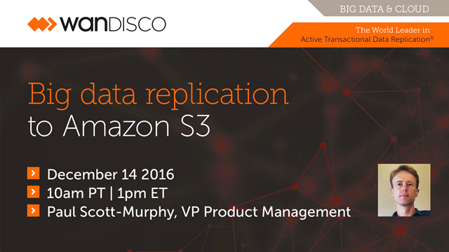 Big data replication to Amazon S3