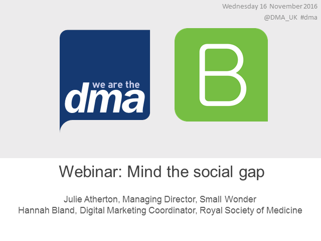 Webinar: Mind the social gap
