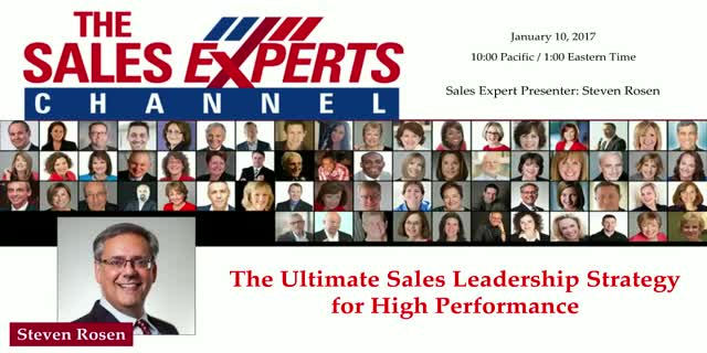 The Ultimate Sales Leadership Strategy for High Performance