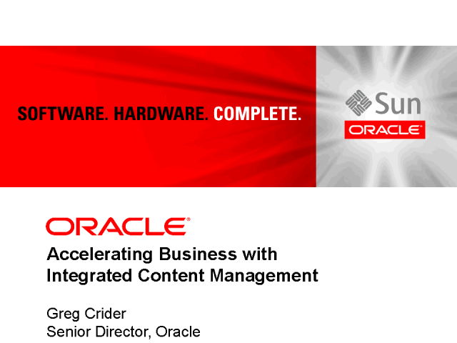 Accelerating Business with Integrated Content Management