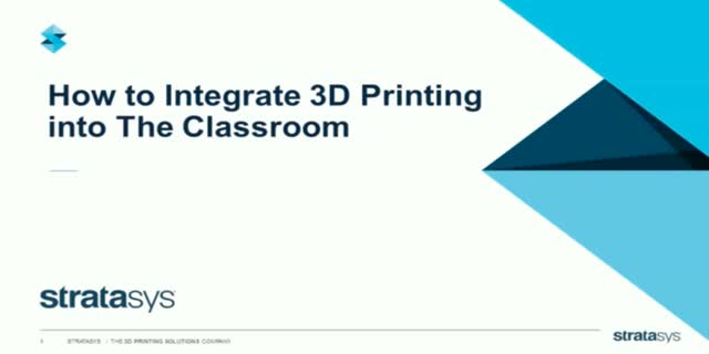 Project Based Learning — Integrating  3D Printing Into Classrooms at Wentworth