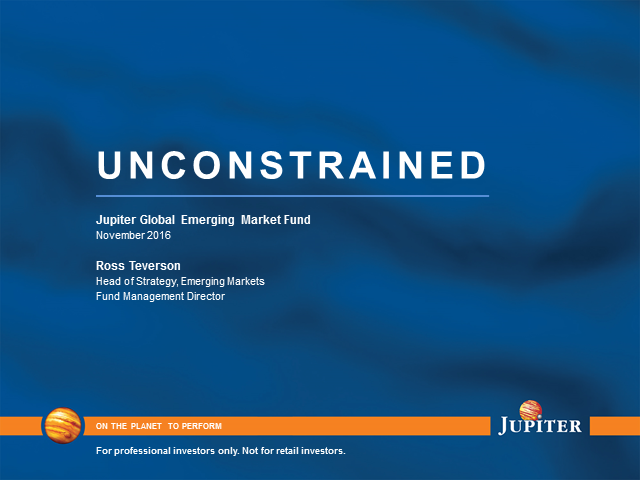 Jupiter Global Emerging Markets live webcast