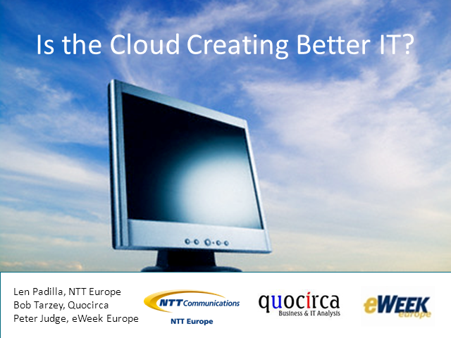 Is the Cloud Creating Better IT?