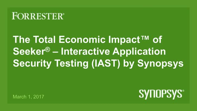 Forrester Total Economic Impact™ Study: Seeker® – IAST