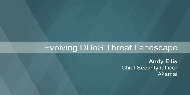 Evolving DDoS Threat Landscape