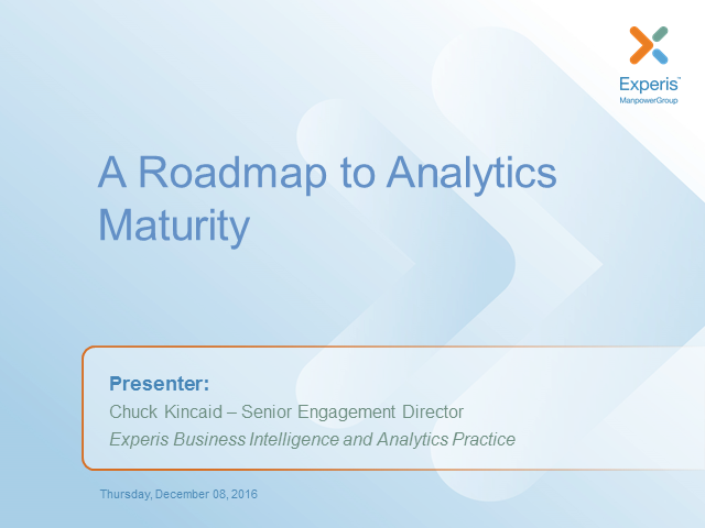 The Road-Map to Analytics Maturity