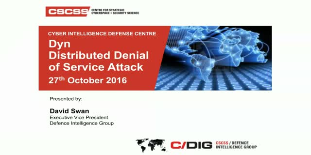 Dyn Distributed Denial of Service: Impact & Lessons Learned