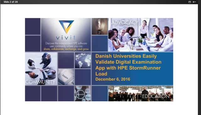 Danish Universities Easily Validates Digital Examination App w/ HPE StormRunner