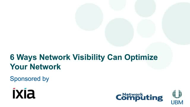 6 Ways Network Visibility can Optimize your Network