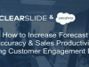 Increase Forecast Accuracy & Sales Productivity Using Customer Engagement Data