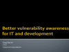 Better Vulnerability Awareness for IT and Development