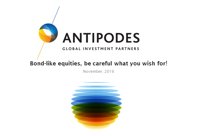 Bond-like equities, be careful what you wish for!