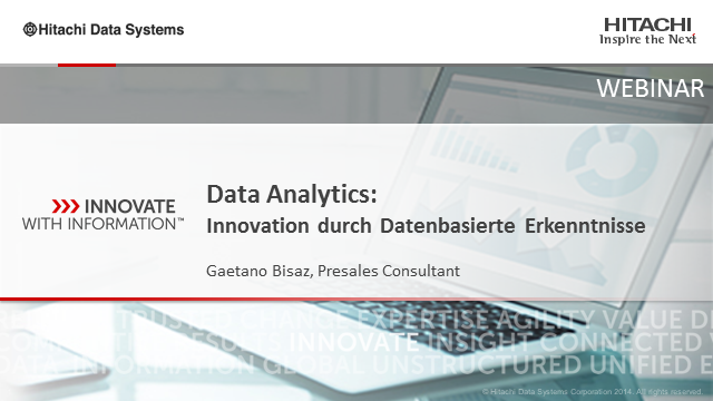 Data Analytcis: Innovation durch Datenbasierte Erkenntnisse