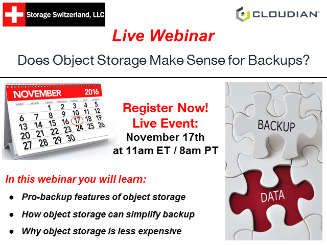 Does Object Storage Make Sense for Backups?