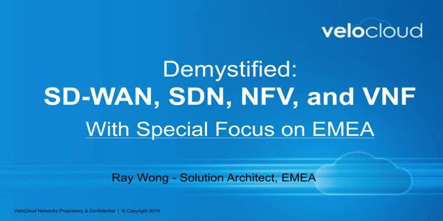 Spotlight on EMEA: Demystifying SD-WAN, SDN, NFV, and VNF