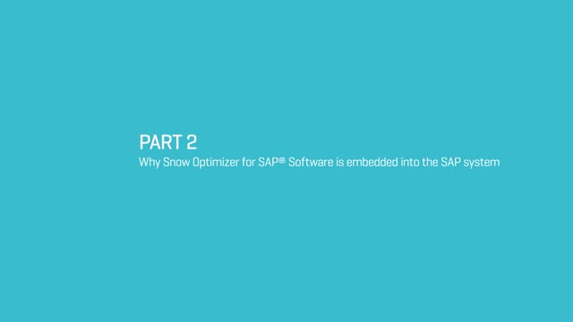 Why Snow Optimizer for SAP ®