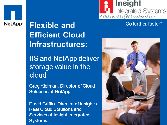 IIS and NetApp Deliver Storage Value in the Cloud