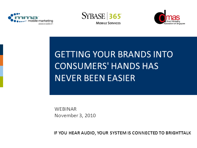 Getting Your Brand Into Consumers' Hand Has Never Been Easier