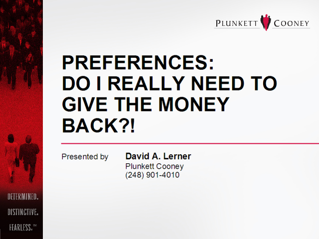 Preferences: Do I Really Need to Give the Money Back?!