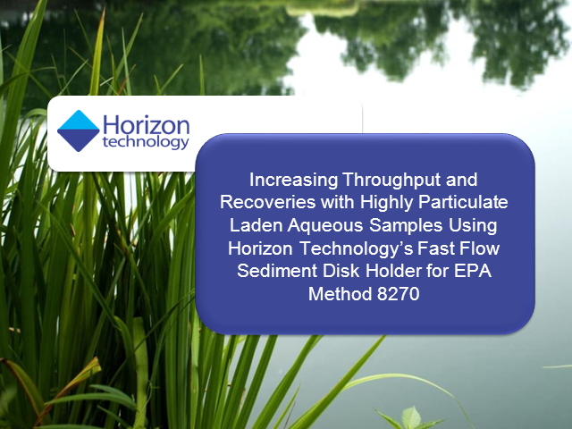 EPA Method 8270: Improve Throughput and Recoveries