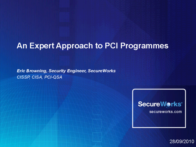 An Expert Approach to PCI Programmes