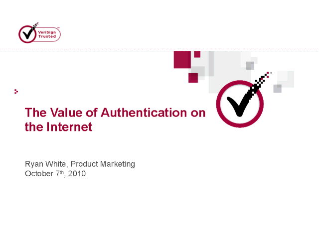 The Value of Authentication on the Internet