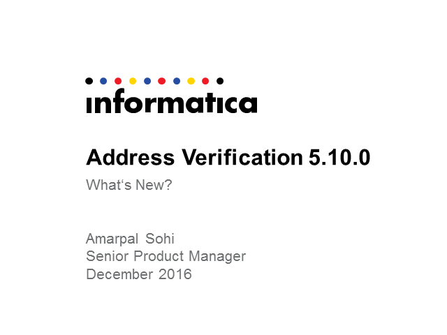 Address Verification 5.10.0 – What's New?