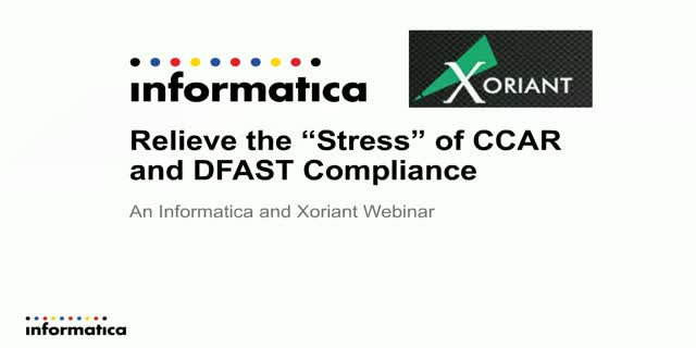 """Relieve the """"Stress"""" of CCAR and DFAST Compliance"""