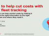How to help cut costs with GPS fleet tracking