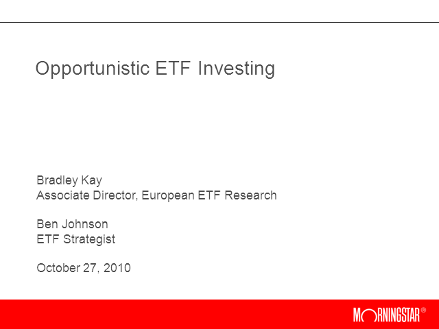 Opportunistic ETF Investing