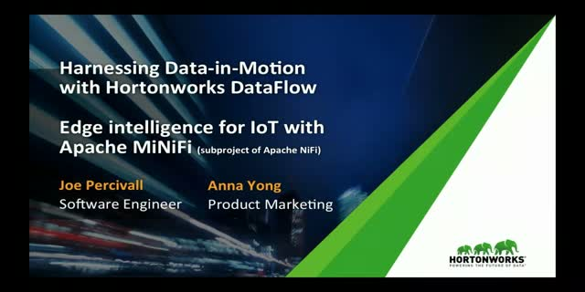 Edge intelligence for IoT with Apache MiNiFi