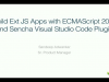 Building Ext JS Apps with ECMAScript 2015 Using Sencha Visual Studio Code Plugin